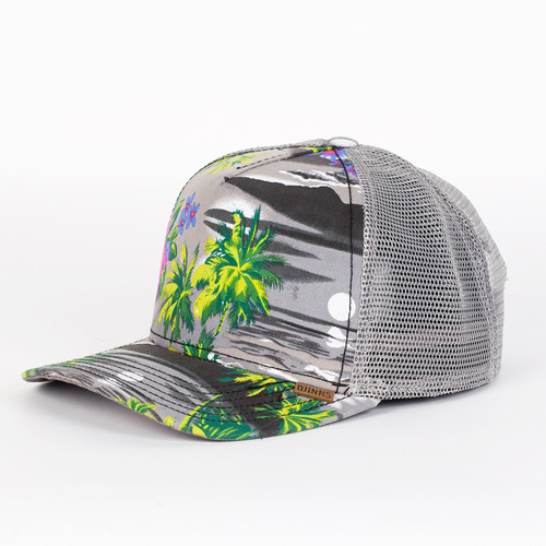 Бейсболка DJINNS Denim Aloha High Fitted T.cap (Grey, O/S)