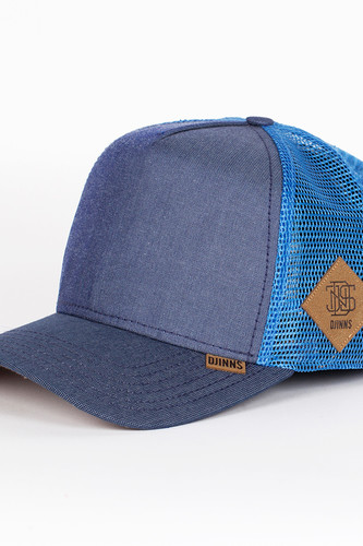 Бейсболка DJINNS Mix Canvas High Fitted T.cap (Blue-Navy, O/S)