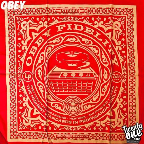 Бандана OBEY Fidelity (Red)