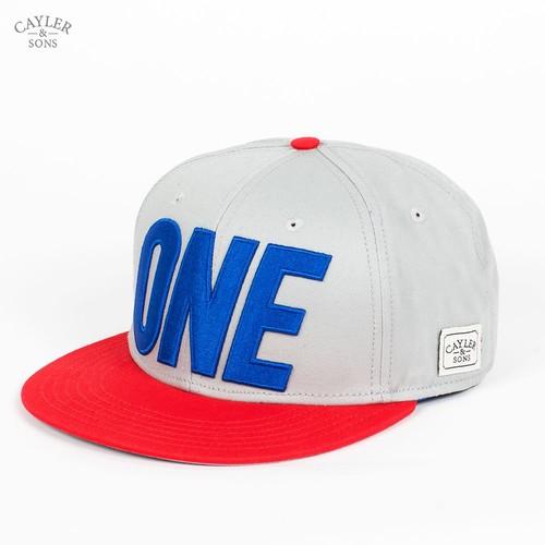 Бейсболка CAYLER & SONS One Cap (Grey-Red-Royal-Blue, O/S) недорого