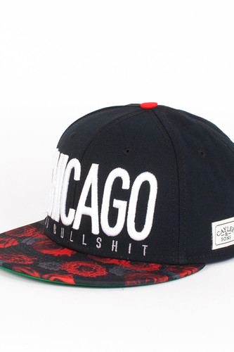Бейсболка CAYLER & SONS Chicago City Cap (Black-Red-Roses-White, O/S)