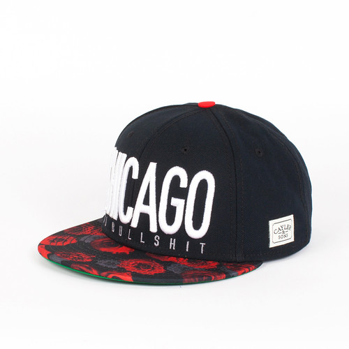 Бейсболка CAYLER & SONS Chicago City Cap (Black-Red-Roses-White, O/S) мебель black red white