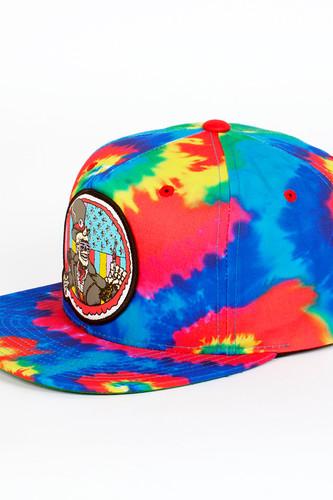 Бейсболка МИШКА Cyco Pusher Snapback (Rainbow-Tie-Dye, O/S)