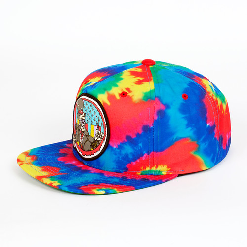 Бейсболка МИШКА Cyco Pusher Snapback (Rainbow-Tie-Dye, O/S) панама мишка sunset tie dye bucket hat sunset s m