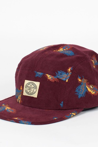 Бейсболка OBEY Trail 5 Panel (Burgundy, O/S)