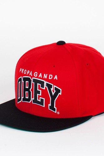 Бейсболка OBEY Throwback Snap (Red-Black, O/S)