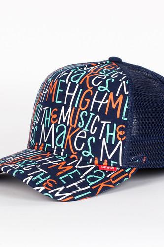 бейсболка djinns organic waves high fitted t cap navy o s Бейсболка DJINNS Musichigh High Fitted T.cap (Blue, O/S)