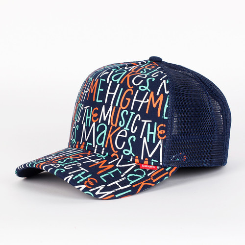 Бейсболка DJINNS Musichigh High Fitted T.cap (Blue, O/S)