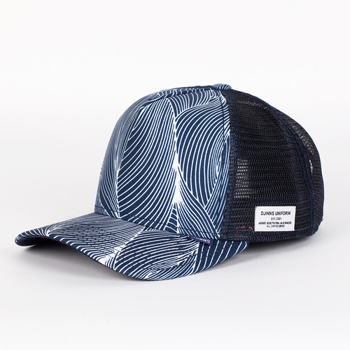 Бейсболка DJINNS Organic Waves High Fitted T.cap (Navy, O/S) бейсболка djinns mix canvas high fitted t cap blue navy o s