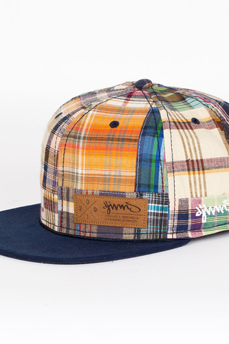 Бейсболка DJINNS Patchwork 2014 6 Panel Snapback (Navy-Blue-Brown, O/S)