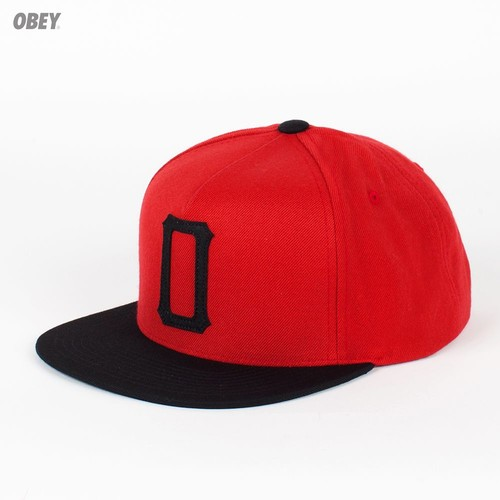 Бейсболка OBEY Legacy Snap (Red-Black, O/S) цена