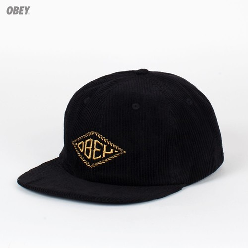 Бейсболка OBEY Motif Hat (Black, O/S)