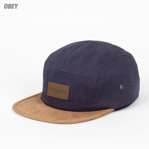 Бейсболка OBEY Descent 5 Panel (Dusty-Navy, O/S) бейсболка obey ulster 5 panel light brown o s