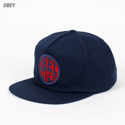 Бейсболка OBEY Badge Snap (Midnight, O/S) бейсболка obey washington 5 panel olive o s