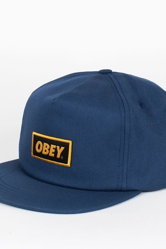 Бейсболка OBEY Stock Snap (Dusty-Navy, O/S) s cool бейсболка