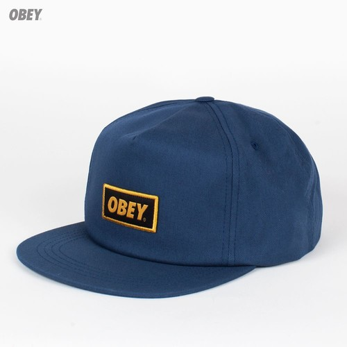 Бейсболка OBEY Stock Snap (Dusty-Navy, O/S) бейсболка obey washington 5 panel olive o s