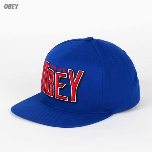 Бейсболка OBEY Propaganda Snap (Royal, O/S)