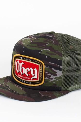 Бейсболка OBEY Lager Trucker (Tiger-Camo, O/S) chauvet dj obey 40