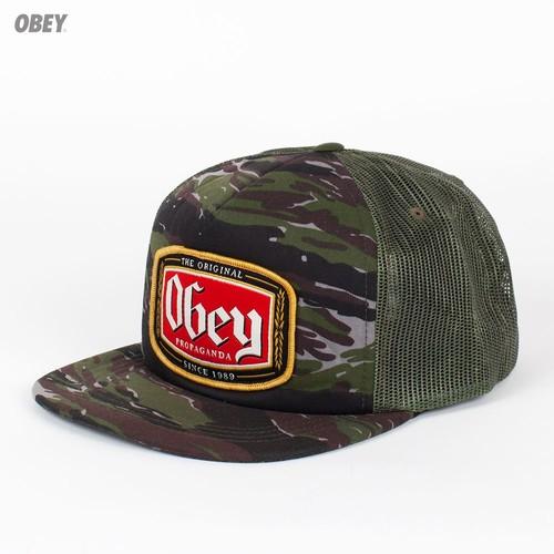 Бейсболка OBEY Lager Trucker (Tiger-Camo, O/S) бейсболка obey expedition 5 panel field camo o s