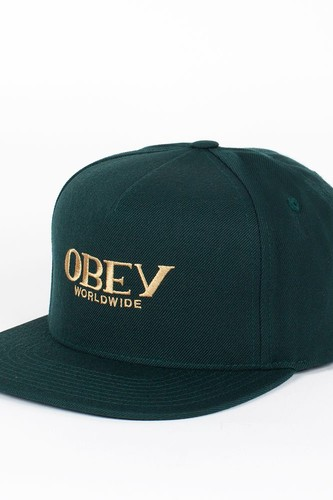Бейсболка OBEY Milan Hat (Dark-Green, O/S)