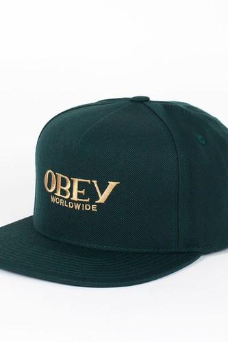 цена на Бейсболка OBEY Milan Hat (Dark-Green, O/S)
