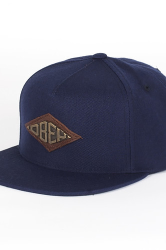 лучшая цена Бейсболка OBEY Hardware Hat (Navy, O/S)