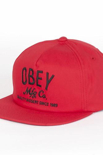 купить Бейсболка OBEY Company Snapback (Red, O/S) дешево