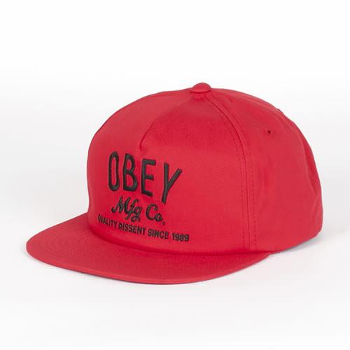 Бейсболка OBEY Company Snapback (Red, O/S) бейсболка obey willard snapback splatter camo o s