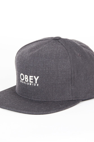 Фото - Бейсболка OBEY Anvers Snapback (Heather Charcoal, O/S) бейсболка obey manchester snapback black o s