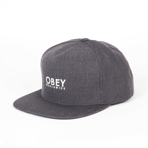 Бейсболка OBEY Anvers Snapback (Heather Charcoal, O/S) бейсболка obey willard snapback splatter camo o s