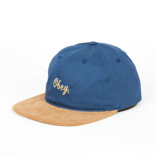 Бейсболка OBEY Edward Hat (Dark Denim, O/S) бейсболка obey washington 5 panel olive o s