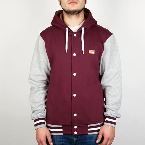 Толстовка IRIEDAILY Irie College Hooded (Maroon Melange-296, L) толстовка iriedaily irie college hooded maroon melange 296 l