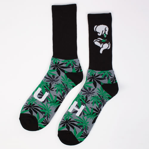 купить Носки CAYLER & SONS Kush Socks (Black-Green-Grey, L) по цене 210 рублей