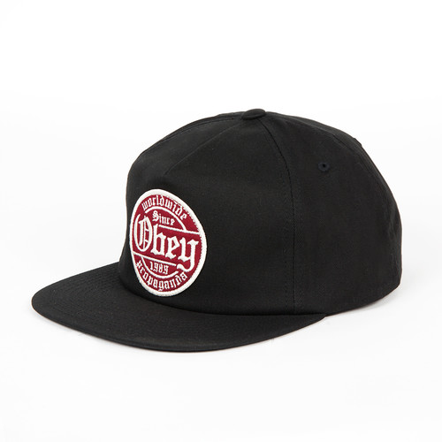 Бейсболка OBEY Whiskey Snapback (Black, O/S) бейсболка obey washington 5 panel olive o s