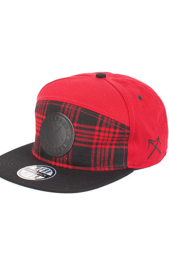 Бейсболка WEARHEAD Logo Patch Tomato Plaid Hybrid SB (Multi, O/S)