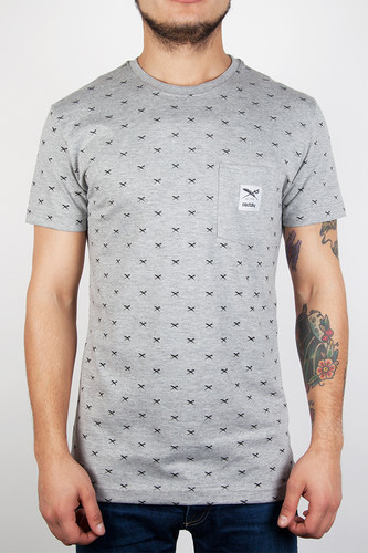 Футболка IRIEDAILY Flag X Allover Tee (Grey-Melange-709, L) футболка iriedaily come to daddy tee forest melange 441 l