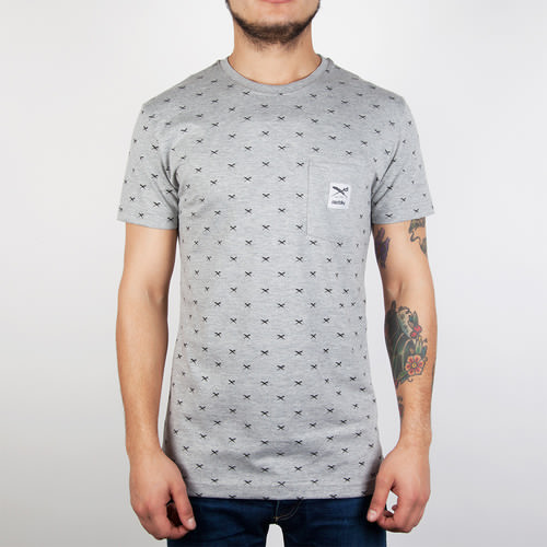 Футболка IRIEDAILY Flag X Allover Tee (Grey-Melange-709, L)