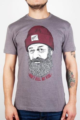 Футболка IRIEDAILY Vibe Killer Tee (Charcoal Melange-712, L) футболка iriedaily come to daddy tee forest melange 441 l