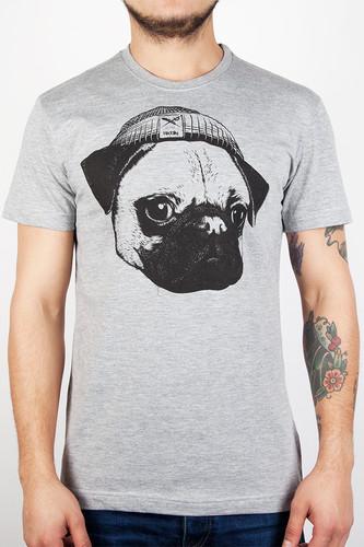 Футболка IRIEDAILY Mopster Tee (Grey-Melange-709, L) футболка iriedaily come to daddy tee forest melange 441 l