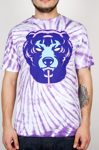 Футболка MISHKA Death Adder Tie Dye Tee (Purple Dye, L)
