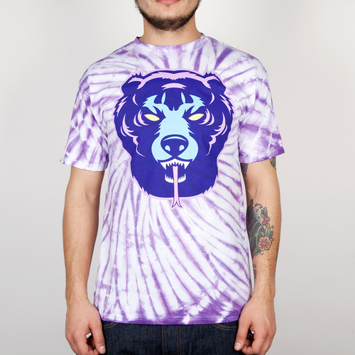 Футболка MISHKA Death Adder Tie Dye Tee (Purple Tie Dye, L) бейсболка mishka keep watch tie dye new era snapback lime blue tie dye o s
