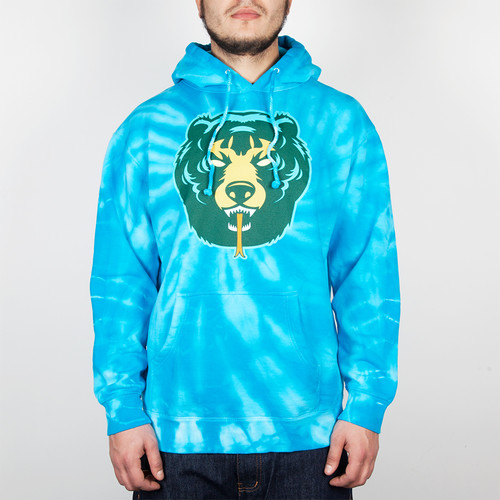 Толстовка MISHKA Death Adder Pullover Hoodie (Turquoise, XL) tiger print pullover hoodie