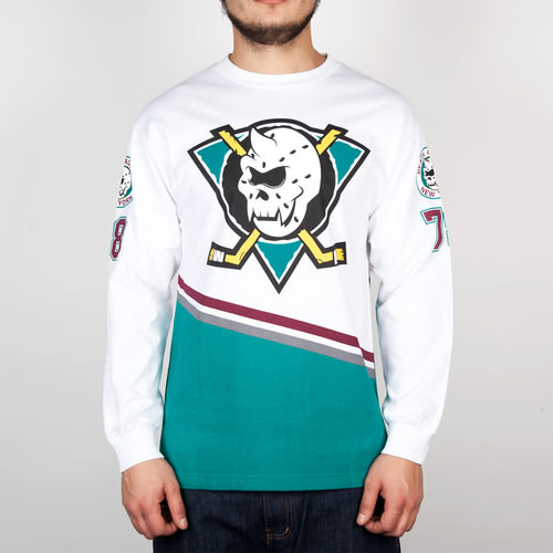 Футболка MISHKA Slap Shot Jersey Ls Tee (White, XL) 2x filter 2x cotton filter vacuum cleaner filters hepa part for samsung cup sc65 66 67 68 series vacuum cleaner dust filter