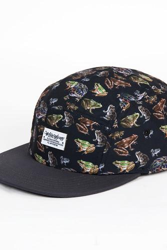 Бейсболка DJINNS 5P Flat Cap Frogs (Black, O/S)