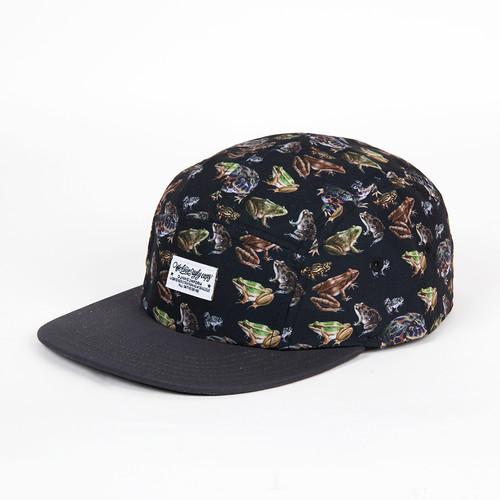 Бейсболка DJINNS 5P Flat Cap Frogs (Black, O/S) бейсболка djinns dirty velvet 5p flat cap fv navy o s