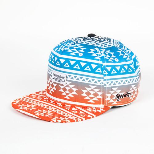 Бейсболка DJINNS 5P Snapback Fading Aztec #2 (Blue, O/S) бейсболка djinns dirty velvet 5p flat cap fv navy o s