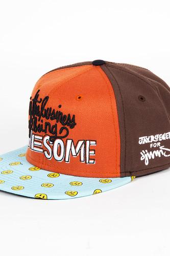 Бейсболка DJINNS 6P Snapback Awesome (Orange, O/S)