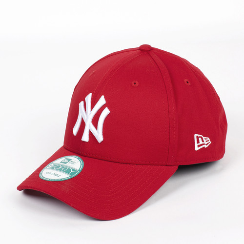Бейсболка NEW ERA 940 League Basic NY (Scarlet-White, O/S) бейсболка new era clean trucker ny black black white o s