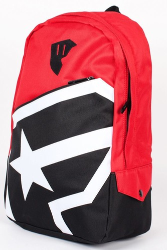 Рюкзак FAMOUS Boh Zip Backpack (Red-Black-White)