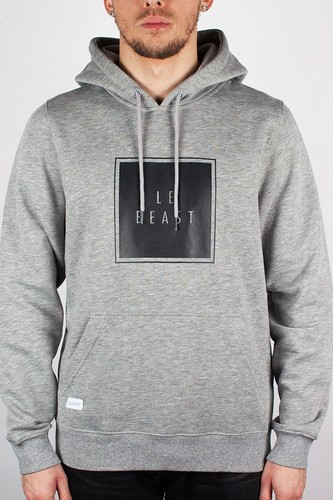 цена на Толстовка BEASTIN Le Beast Hoody (Grey-Heather-Black, 2XL)